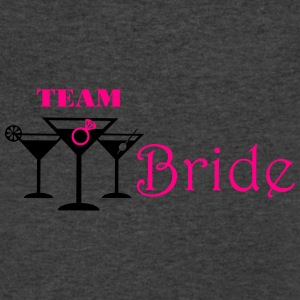 team bride cocktails with ring Tanks - Men's V-Neck T-Shirt by Canvas