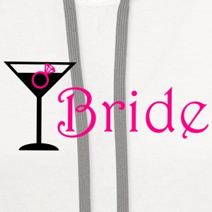 bride cocktails with ring Tanks - Contrast Hoodie