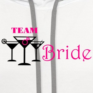 team bride cocktails with ring Tanks - Contrast Hoodie