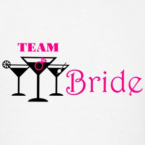 team bride cocktails with ring Tanks - Men's T-Shirt