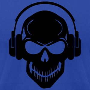 Skull with Headphones - Rave - Electro - Hardstyle Hoodies - Men's T-Shirt by American Apparel