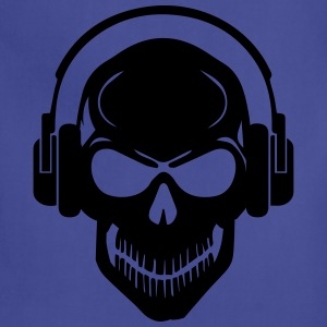 Skull with Headphones - Rave - Electro - Hardstyle Tanks - Adjustable Apron
