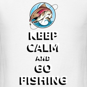 GO FISHING Buttons - Men's T-Shirt