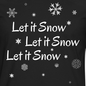 LetItSnowWithSnowWhitecop T-Shirts - Men's Premium Long Sleeve T-Shirt