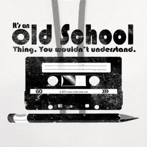 Old School Thing Cassette Retro 80s T-Shirts - Contrast Hoodie