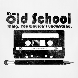 Old School Thing Cassette Retro 80s T-Shirts - Adjustable Apron