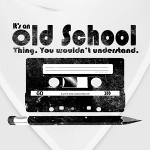 Old School Thing Cassette Retro 80s T-Shirts - Bandana