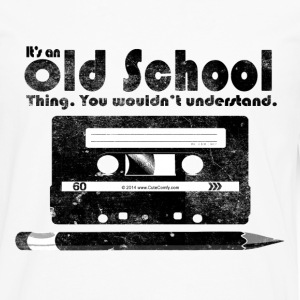 Old School Thing Cassette Retro 80s T-Shirts - Men's Premium Long Sleeve T-Shirt