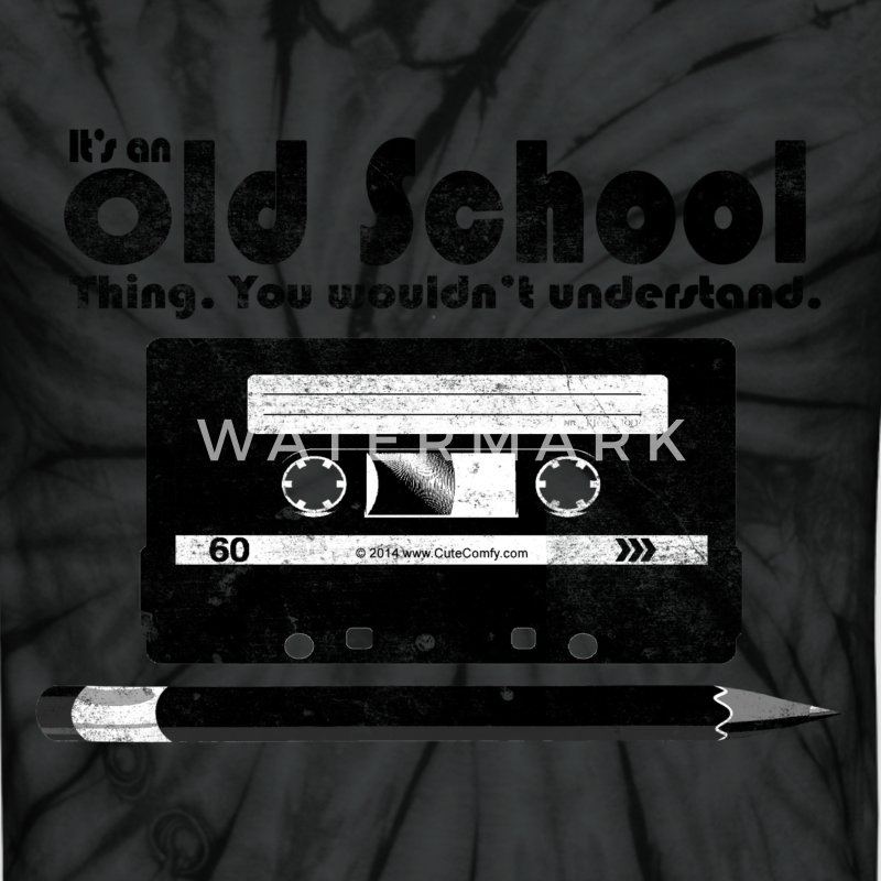Old School Thing Cassette Retro 80s T-Shirts - Unisex Tie Dye T-Shirt