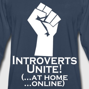Introverts Unite At Home Women's T-Shirts - Men's Premium Long Sleeve T-Shirt