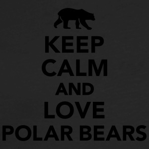 Keep calm love Polar Bears Women's T-Shirts - Men's Premium Long Sleeve T-Shirt