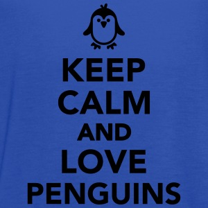 Keep calm and love Penguin Kids' Shirts - Women's Flowy Tank Top by Bella