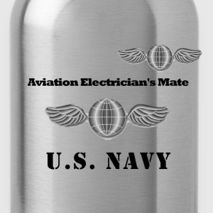 US Navy Aviation Electrician's Mate Shirt - Water Bottle
