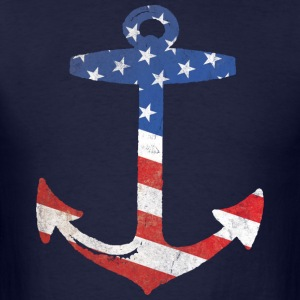 American Flag Anchor Hoodies - Men's T-Shirt