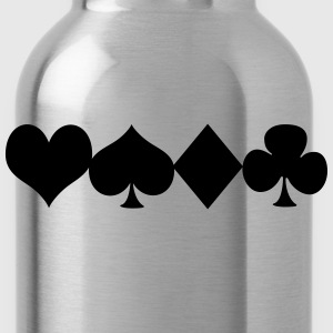 Deck of cards Women's T-Shirts - Water Bottle