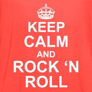 Keep calm and Rock n roll - Women's Flowy Tank Top by Bella