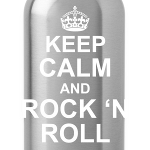 Keep calm and Rock n roll - Water Bottle
