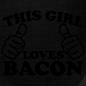This Girl Loves Bacon Women's T-Shirts - Bandana