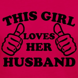 This Girl Loves Her Husband Women's T-Shirts - Women's Premium Long Sleeve T-Shirt