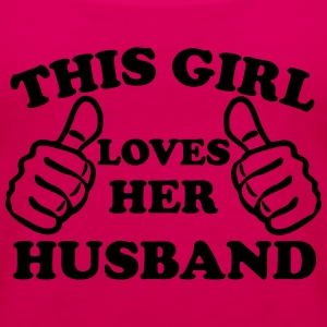 This Girl Loves Her Husband Women's T-Shirts - Women's Premium Tank Top