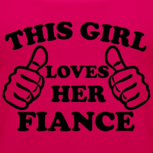 This Girl Loves Her Fiance Women's T-Shirts - Women's Premium Tank Top
