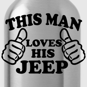 This Man Loves His Jeep T-Shirts - Water Bottle