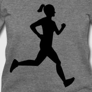 Girl Runner T-Shirts - Women's Wideneck Sweatshirt