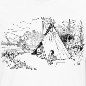 Native American Scene - Men's Premium Long Sleeve T-Shirt