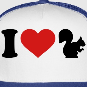 I love Squirrel T-Shirts - Trucker Cap