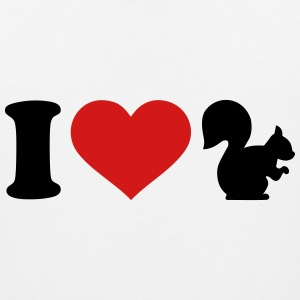 I love Squirrel T-Shirts - Men's Premium Tank