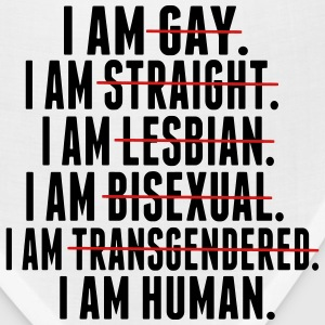 I AM GAY. I AM STRAIGHT. I AM LESBIAN, I AM HUMAN Hoodies - Bandana