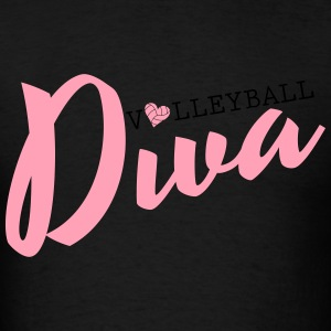 Volleyball Diva Hoodies - Men's T-Shirt