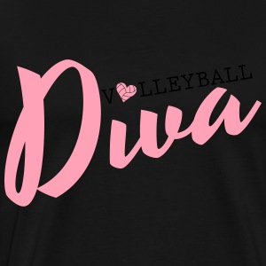 Volleyball Diva Hoodies - Men's Premium T-Shirt