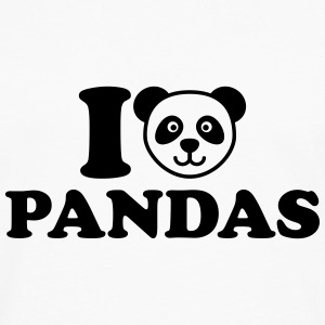 I love Pandas Kids' Shirts - Men's Premium Long Sleeve T-Shirt
