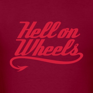 Hell on Wheels 1c Hoodies - Men's T-Shirt
