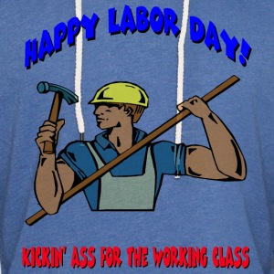 Happy Labor Day T-Shirts - Unisex Lightweight Terry Hoodie