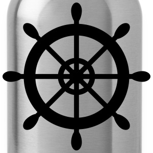 Ship Wheel Print - Water Bottle