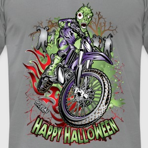 MX Dirt Bike Halloween Long Sleeve Shirts - Men's T-Shirt by American Apparel