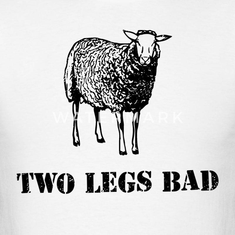 Two Legs Bad Sheep T-Shirts - Men's T-Shirt