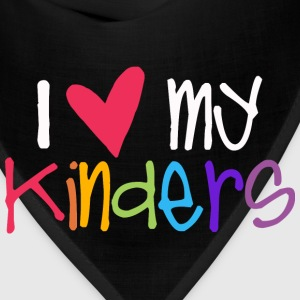 love my kinders teacher shirt T-Shirts - Bandana