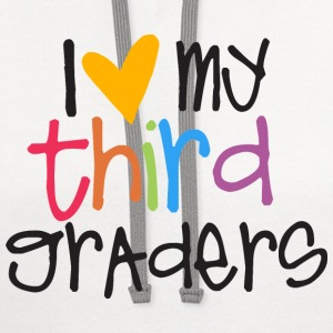 love my third graders teacher shirt Women's T-Shirts - Contrast Hoodie