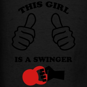 This Girl is a Swinger Tanks - Men's T-Shirt