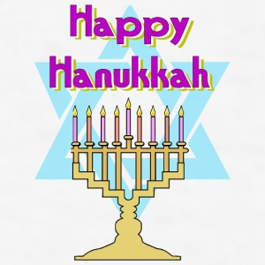 Happy Hanukkah Bottles & Mugs - Men's T-Shirt
