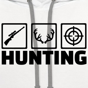 Hunting T-Shirts - Contrast Hoodie
