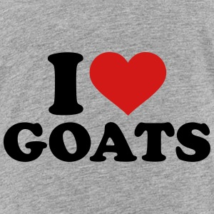 I love Goats Kids' Shirts - Toddler Premium T-Shirt