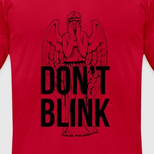 Don't Blink Long Sleeve Shirts - Men's T-Shirt by American Apparel