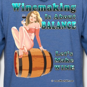 Winemaking Is Balance Women's T-Shirts - Unisex Lightweight Terry Hoodie