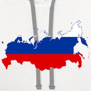 Russia Map - Contrast Hoodie
