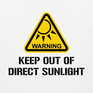 WARNING - Keep Out of Direct Sunlight T-Shirts - Men's Premium Tank