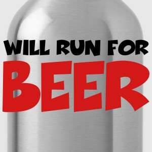 Will run for beer T-Shirts - Water Bottle